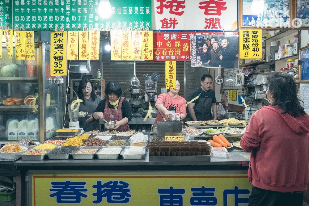 朴子第一市場美食|麻糬棟、永豐春捲冰果室、姑婆ㄟ店